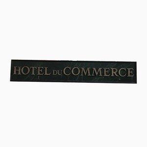 Hotel Du Commerce Schild, 1970er