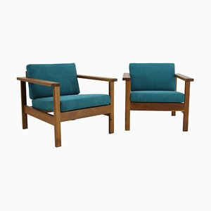 Danish Beech Armchairs, 1960s, Set of 2