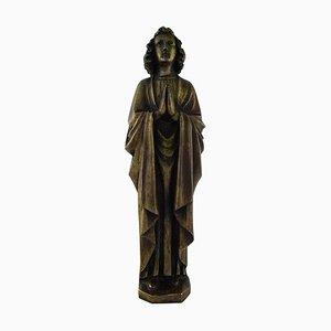 Large Vintage Bronze Saint Sculpture