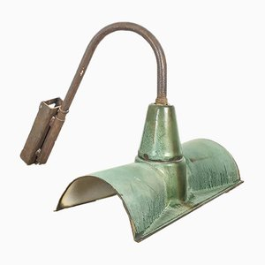 Vintage Industrial Green Enamel Wall Light