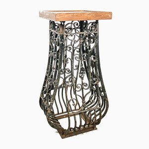 Vintage French Wrought Iron Pedestal