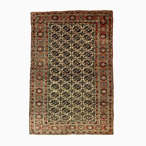 Turkish Turkmen Red and Beige Distressed Wool Rug, 1940s