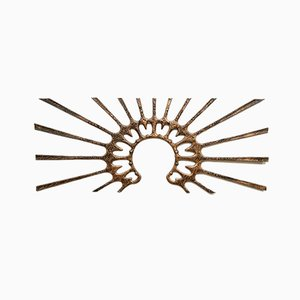 Vintage Copper Sunset Wall Sculpture, 1960s