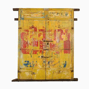 Indian Painted Wooden Door, 1920s