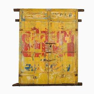 Puerta india de madera pintada, años 20