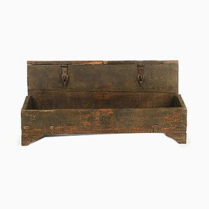 Workshop Chest in Patinated Wood, 1940s