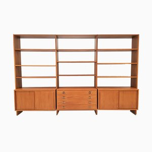 Teak Model RY 100 Modular Shelving System by Hans J. Wegner for Ry Møbler, 1960s