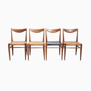 Vintage Teak Bambi Dining Chairs by Rolf Rastad & Adolf Relling for Gustav Bahus, 1960s, Set of 4