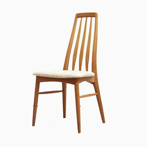 Danish Eva Dining Chairs by Niels Koefoed for Hornslet Møbelfabrik, 1970s, Set of 3