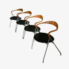 Chaise HE-103 Saffa par Hans Eichenberger pour Keller Metalbau, Set de 4