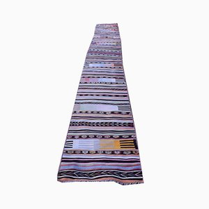 Turkish Handmade Kilim Hallway Runner Rug or Stair Tread, 1970s