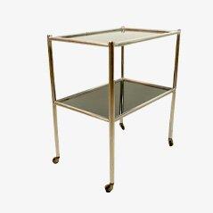 Carrello da portata Bauhaus in metallo e vetro