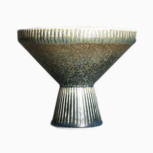 Mid-Century Steingut Vase mit Harefur Glasur von Carl-Harry Stålhane für Rörstrand