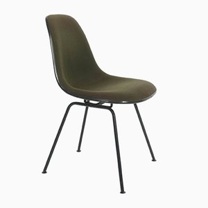 Olive Green Dining Chairs by Charles & Ray Eames for Herman Miller, 1950s, Set of 4