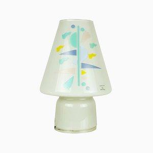 Lampe de Bureau Bibi en Verre Gris Clair par Alessandro Mendini pour Artemide-Sidecar, 1993