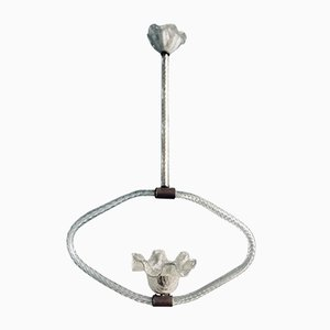 Art Deco Murano Glass Pendant Lamp by Ercole Barovier, 1940s