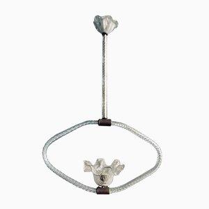 Lámpara colgante Art Déco de cristal de Murano de Ercole Barovier, años 40