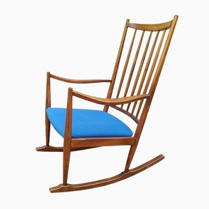 Solid Wood Model J16 Rocking Chair by Hans J. Wegner for Fredericia Stolefabrik, 1950s