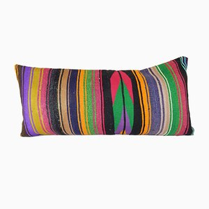 Striped Bedding Lumbar Kilim Cushion Cover