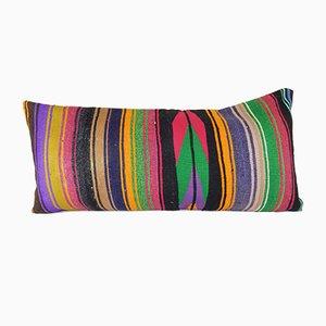 Striped Bedding Lumbar Kilim Cushion Cover
