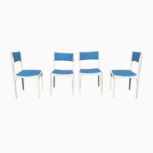 White Lacquered Model Elisabetta Dining Chairs by Giuseppe Gibelli for Luigi Sormani, 1960s, Set of 4
