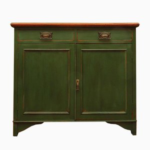 Antique Industrial Green Sideboard