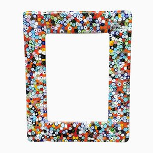 Murano Murrina Italian Art Glass Decorative Desk Picture Frame by Italian Light Design