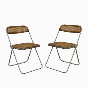 Model Pila Folding Chairs by Giancarlo Piretti for Castelli / Anonima Castelli, 1970s, Set of 2