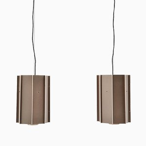 Industrial B1011 Ceiling Lamps by Raak, Holland, 1970s, Set of 2