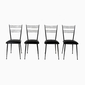 French Dining Chairs by Colette Gueden, 1960s, Set of 4