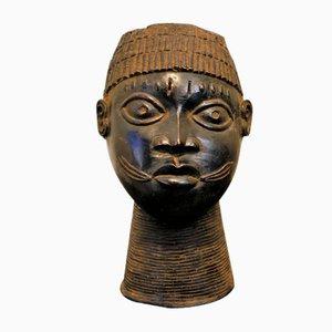 Scultura King Yoruba Mid-Century in bronzo