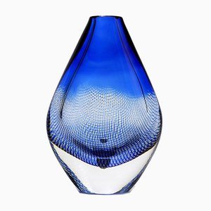 Teardrop Glass Model Kraka Vase by Sven Palmqvist for Orrefors, 1950s