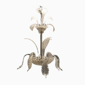 Art Deco Murano Glass Chandelier by Ercole Barovier, 1940s