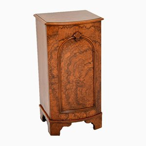 Antique Victorian Burl Walnut Bedside Cabinet