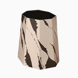 Corbeille à Papier Chimney Noire & Grise par Andreason & Leibel