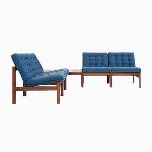 Mid-Century Corner Sofa Set in Teak by Ole Gjerløv-Knudsen & Torben Lind for France & Søn