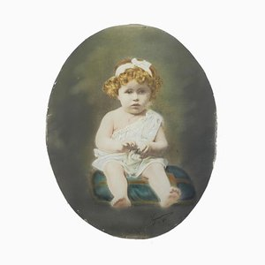 Antique French Photograph of a Young Child by Legarcon, 1920s