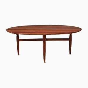 Large Mid-Century Danish Oval Coffee Table by Niels O. Møller for Gudme Mobelfabrik