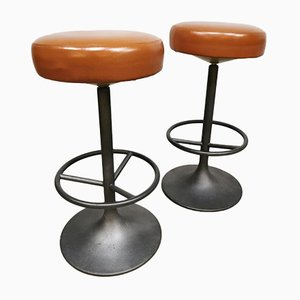Swedish Industrial Barstools by Borje Johanson for Johanson Design, 1960s, Set of 4