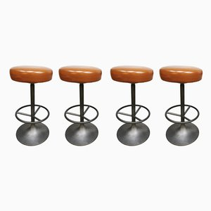 Swedish Industrial Barstools by Borje Johanson for Johanson Design, 1960s, Set of 4