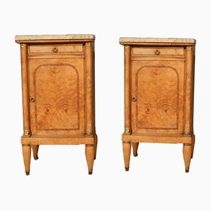Antique French Bedside Cupboard, Set of 2