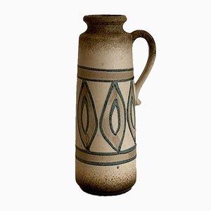 Boho Fat Lava Ceramic Vase 401-28 by Scheurich, West Germany, 1970s