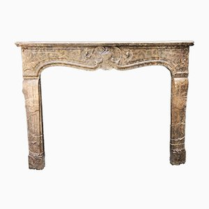 18th Century Louis XV Fireplace in Golden Stinkal Marble