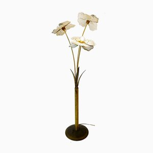 Metal Anemone Floor Lamp, 1970s