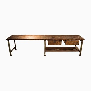Large Vintage Müller Workbench, 1920s