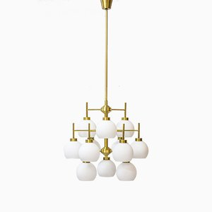 Brass Chandelier by Holger Johansson for Westal, 1960s