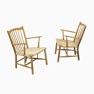 Vintage Magasin du Nord Easy Chairs by Hans J. Wegner for FDB, Set of 2