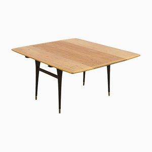 Scandinavian Modern Extendable Coffee or Dining Table, 1960s