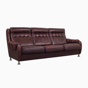 Dänisches Vintage 3-Sitzer Sofa aus Leder, 1960er