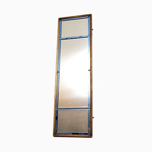Antique Italian Gilt Wood and Colored Glass Mirror